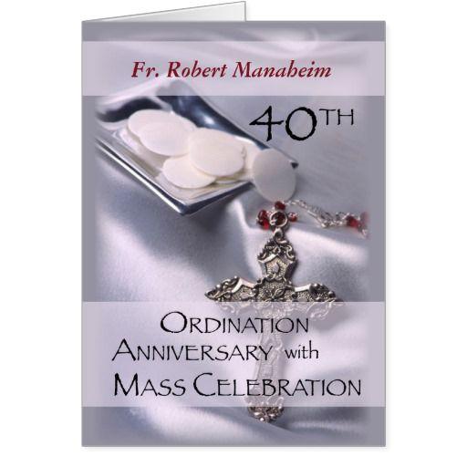 40th Anniversary Of Ordination Invitation Cross Religious Life