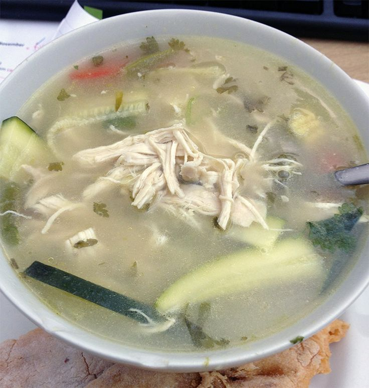 Thai chicken soup - Tom Yum inspired soup recipe suitable for those on a low FODMAP diet.