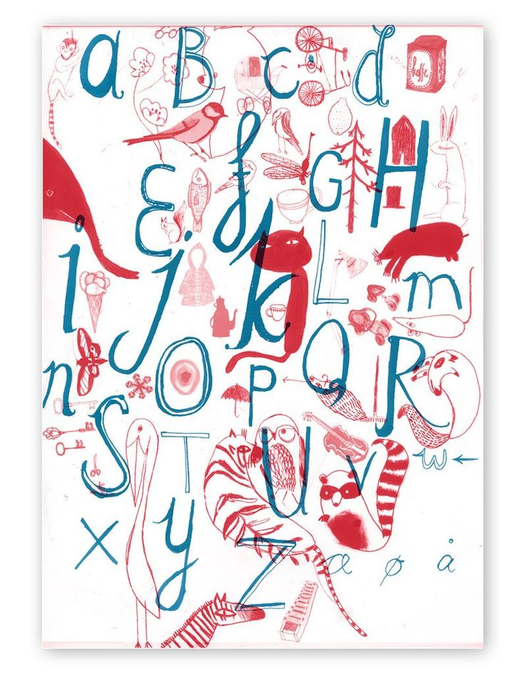 ABC Poster A3   Ditte Maigaard Studio