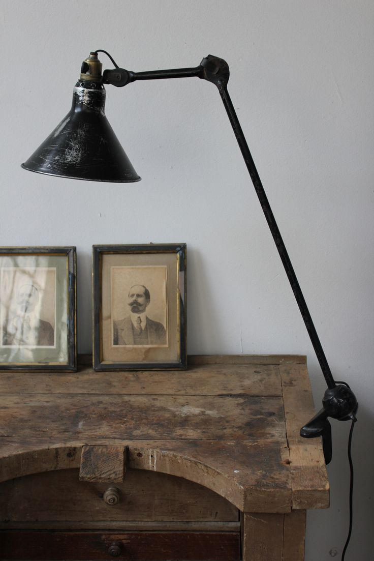 Old Jeweler's bench superbe ancienne lampe industrielle Gras n°201 abat jour…
