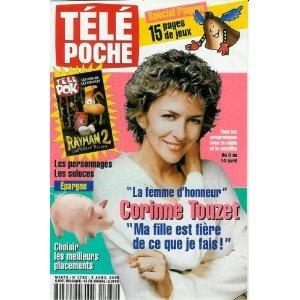 """Corinne Touzet """"Une femme d'honneur"""" : """"Ma fille est fière de ce que je fais !"""", dans Télé Poche n°1782 du 03/04/2000 [couverture et article mis en vente par Presse-Mémoire]"""