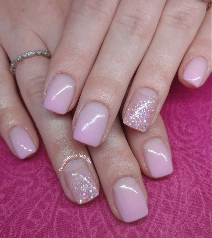 Pink ombre with a bit of sparkle