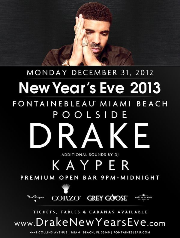 Drake To Perform New Years Eve At The Fontainebleau Miami Beach