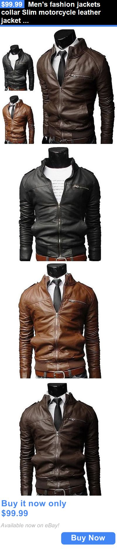 Men Coats And Jackets: Mens Fashion Jackets Collar Slim Motorcycle Leather Jacket Coat Outwear Hot Zo BUY IT NOW ONLY: $99.99