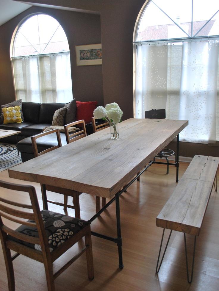 Custom Industrial Reclaimed Wood Dining Table25 By UrbanWoodGoods Very High