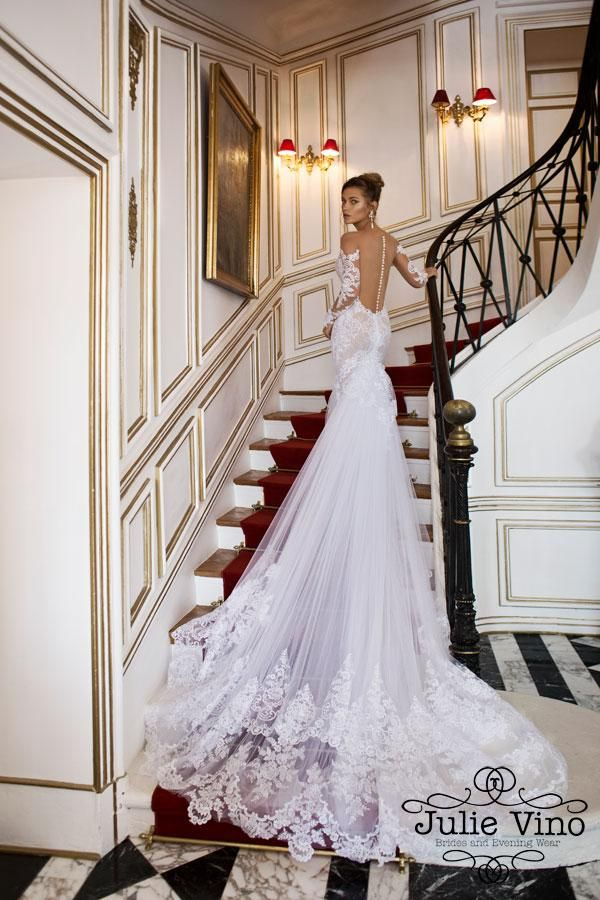 2016 hot sale sexy illusion bodice long sleeve wedding dresses with jewel collar hollow lace wedding - Complicit Mariage Robe Cocktail