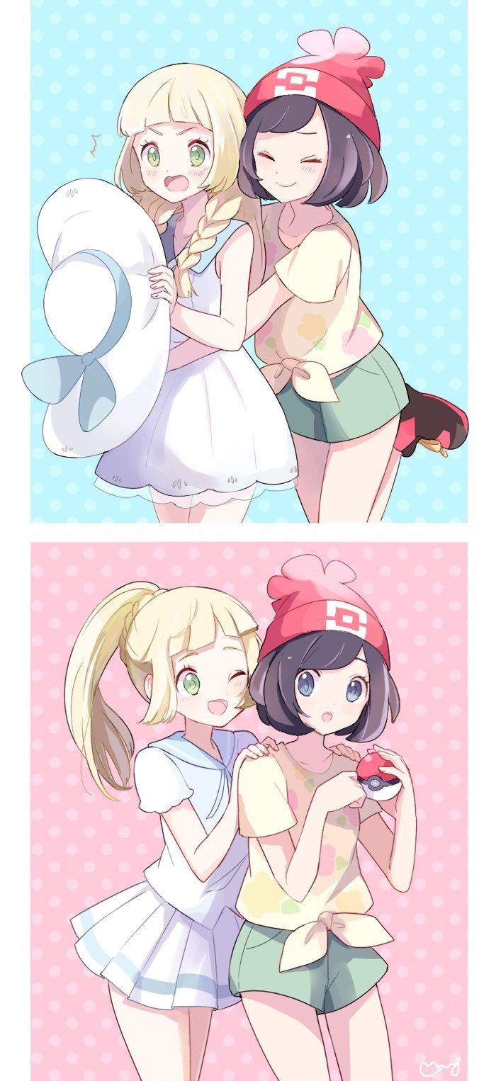 Pokémon - Lillie and the Pokemon master tiger who has mastered and beat the Kanto games hoenn games AND Alola And soon working on Kalos.Me!!!!!!!!!!!