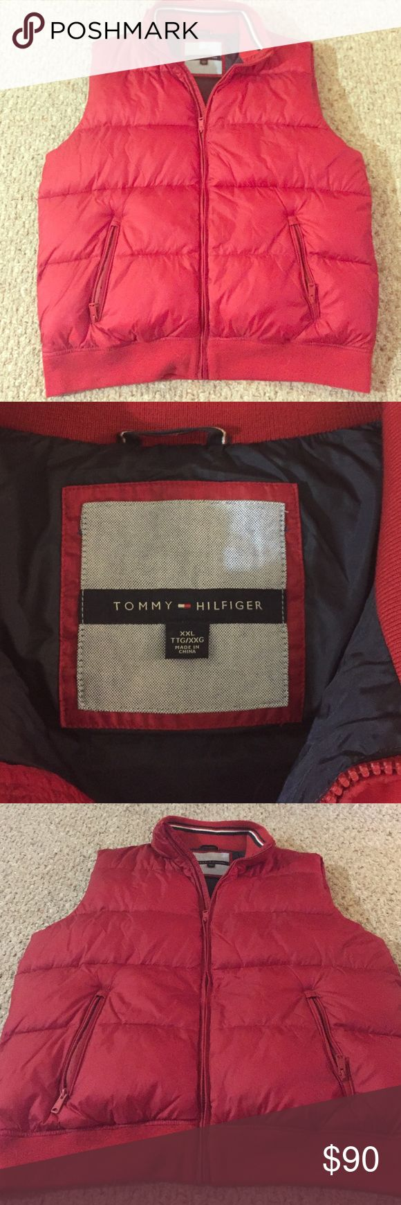 Tommy Hilfiger down vest Red, Double XL, never been worn (does not have tags) Tommy Hilfiger Jackets & Coats Vests