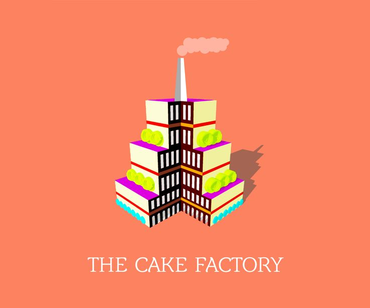 The Cake Factory #LogoDesign #GraphicDesign #Branding #Design #Logo #Creative #Art