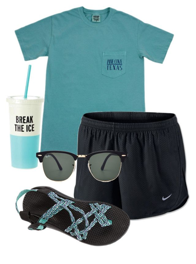 """go follow @robramey17 shes the sweetest person you'll ever meet!!!"" by sofiaestrada ❤ liked on Polyvore featuring NIKE, Chaco, Kate Spade and Ray-Ban"
