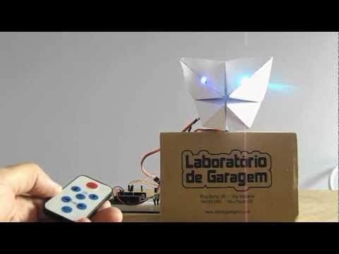 Garabot - The Arduino IR Controlled Paper Robot - GarageLab (arduino, electronics, robotics, hacking)