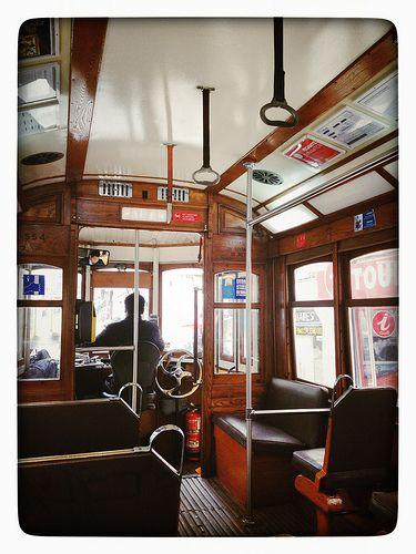 Inside Tram 28