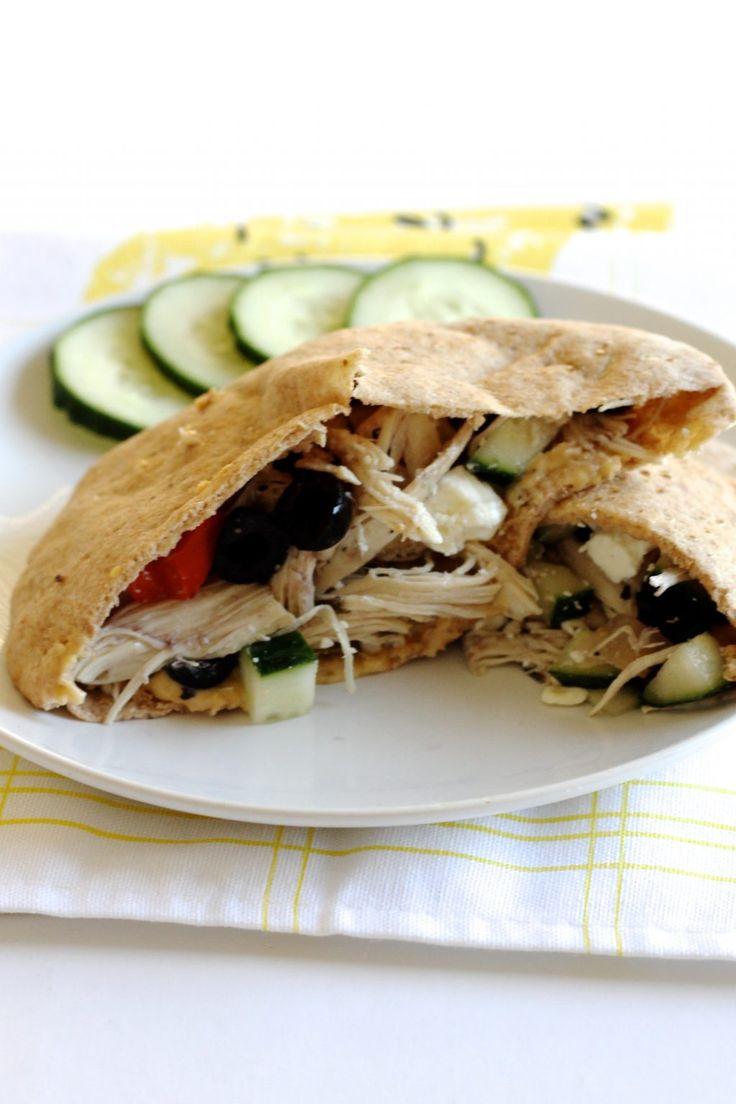 Mediterranean Chicken Pita Sandwiches Recipe