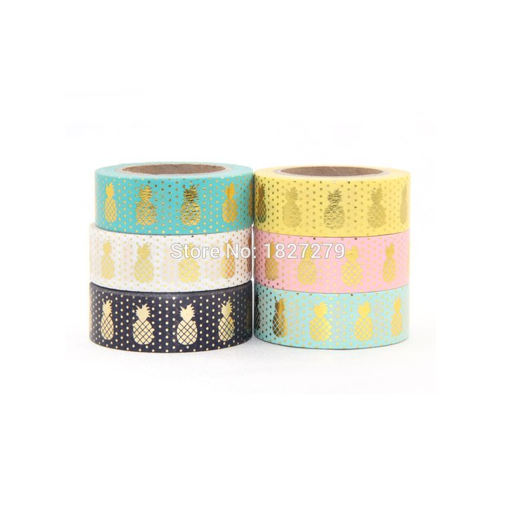 2016 New Gold Foil Pineapple Printing Washi Tape Kawaii Decorative,Scrapbook Tools Cute Paper Crafts Washi Paper set10m Adhesive-in Office Adhesive Tape from Office & School Supplies on Aliexpress.com | Alibaba Group