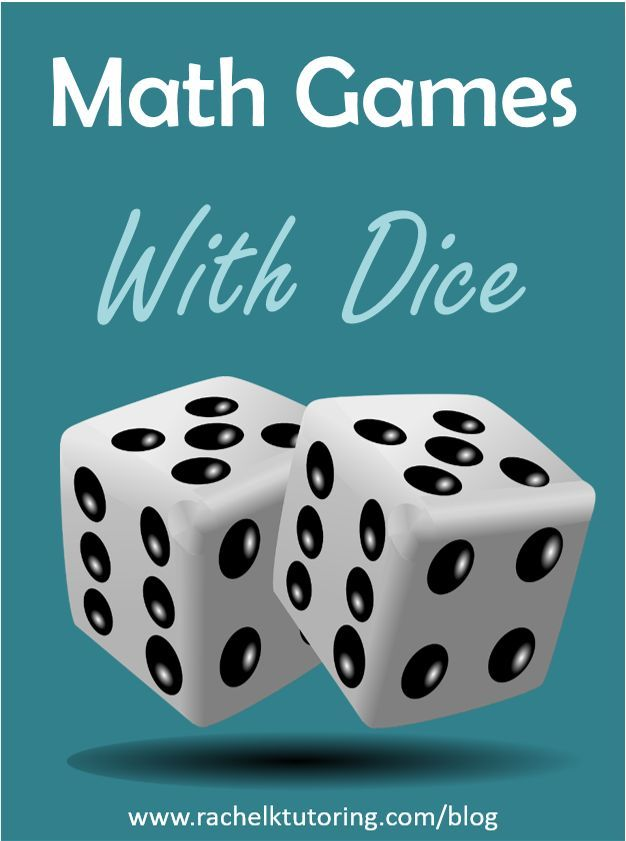 Math Games With Dice   Rachel K Tutoring Blog #MathFactFluency #MathGames #MathCanBeFun