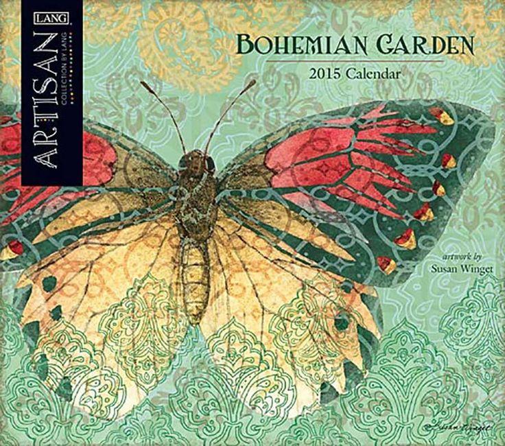 bohemian garden home bohemian garden 2015 large wall calendar - Large Garden 2015
