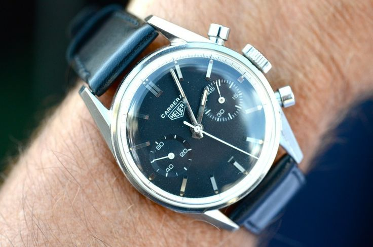 1964 #HEUER #CARRERA  This watch was purchased new by its wearer in this photograph in 1964, and he wore it throughout his career as a pilot for British Airways.