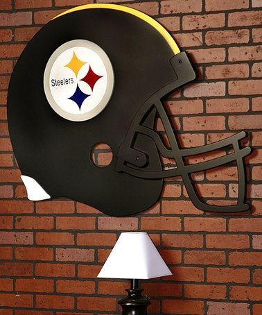 Take a look at this Pittsburgh Steelers Helmet Art by Fan Creations on #zulily today! For you Lupita!!!