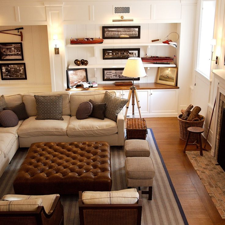 Man Cave Furniture Placement : Masculine and comfortable yet light airy perfect use