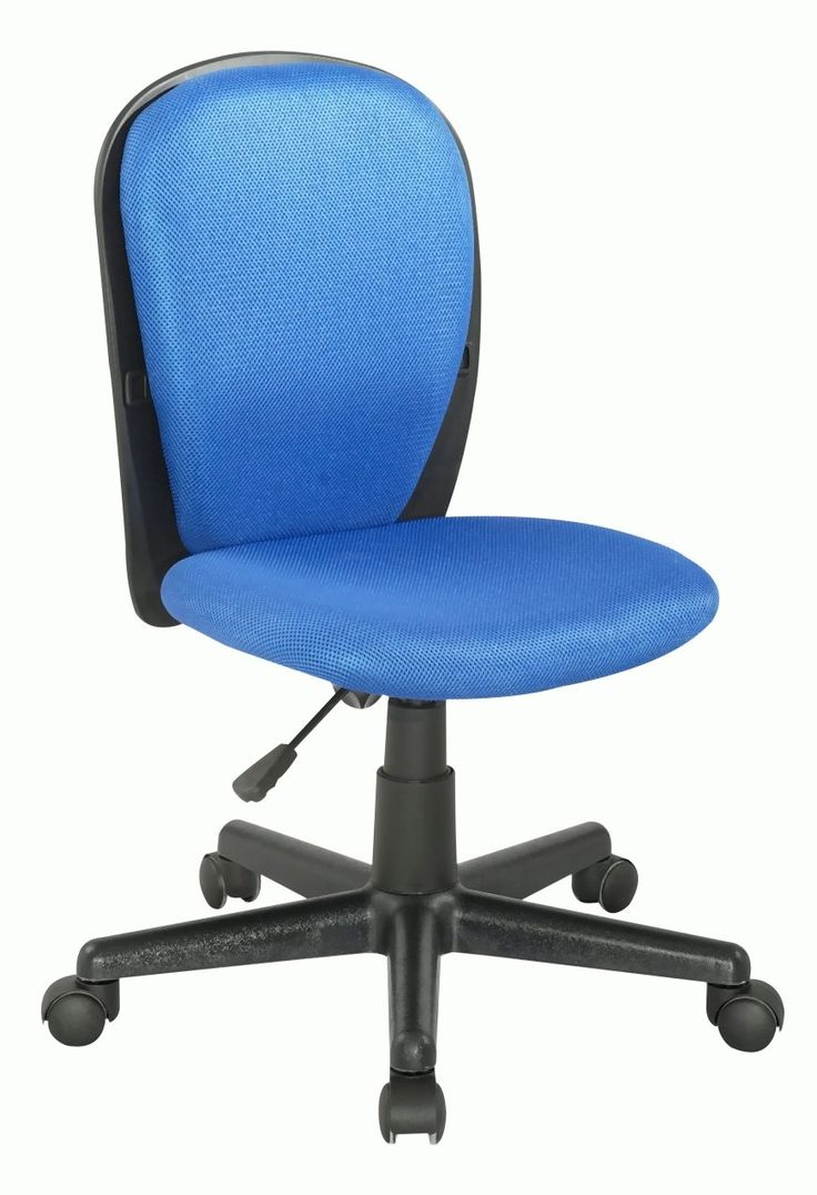 Fabric Back and Seat Youth Desk Chair - Blue by Chintaly