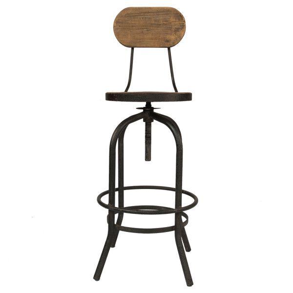 Чудесный французский барный стул от производителя JP2B Decoration. Вас порадует прекрасный дизайн и удобная подставка для ног.             Материал: Металл, Дерево.              Бренд: American Interiors.              Стили: Лофт, Прованс и кантри.              Цвета: Коричневый.