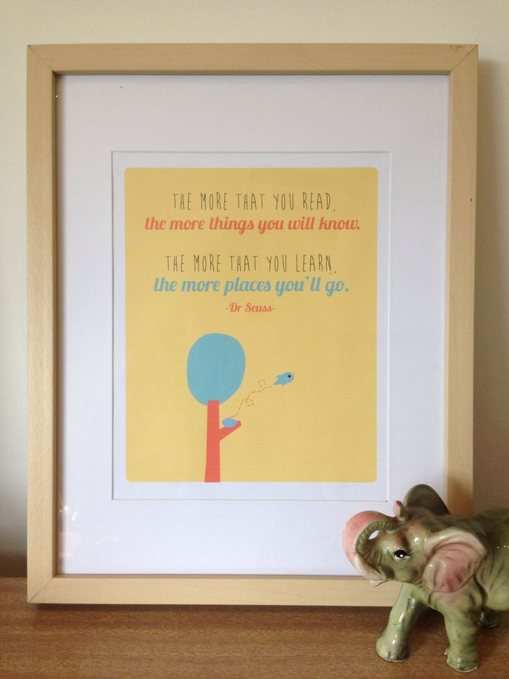 """Illustrated Art Print Dr Seuss """"The more that you read"""" A4 Unframed Illustration by RondelleDouglas on Etsy"""