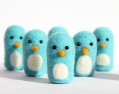 Needle Felted Penguin Toy Bowling Game - Handmade Penguin Bowling Mini Game- Kids Toy - Holiday Gift - Free Gift Wrapping