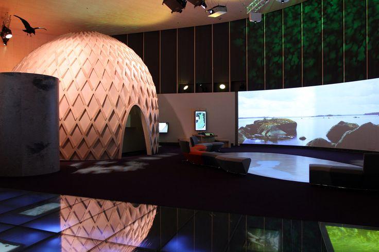 Haltia´s main exhibition hall. Summer 2015. Photo: Metsähallitus / Jukka-Pekka Ronkainen