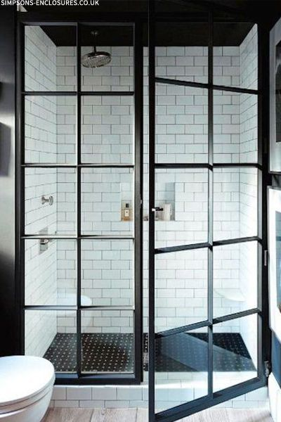 Crittall Bathroom Doors (via Sheerluxe)