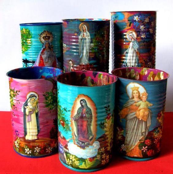Artesanatos Religiosos com Reciclagem