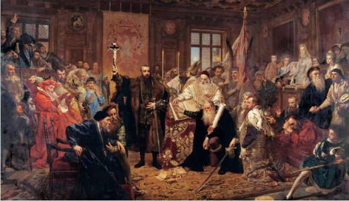 Jan Matejko, Union of Lublin, National Museum in Lublin; source: CC BY-SA 3.0 / Wikimedia