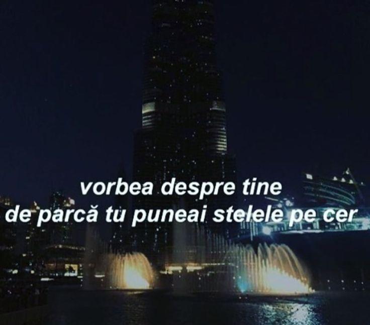Vorbea despre tine de parca puneai stelele pe cer.