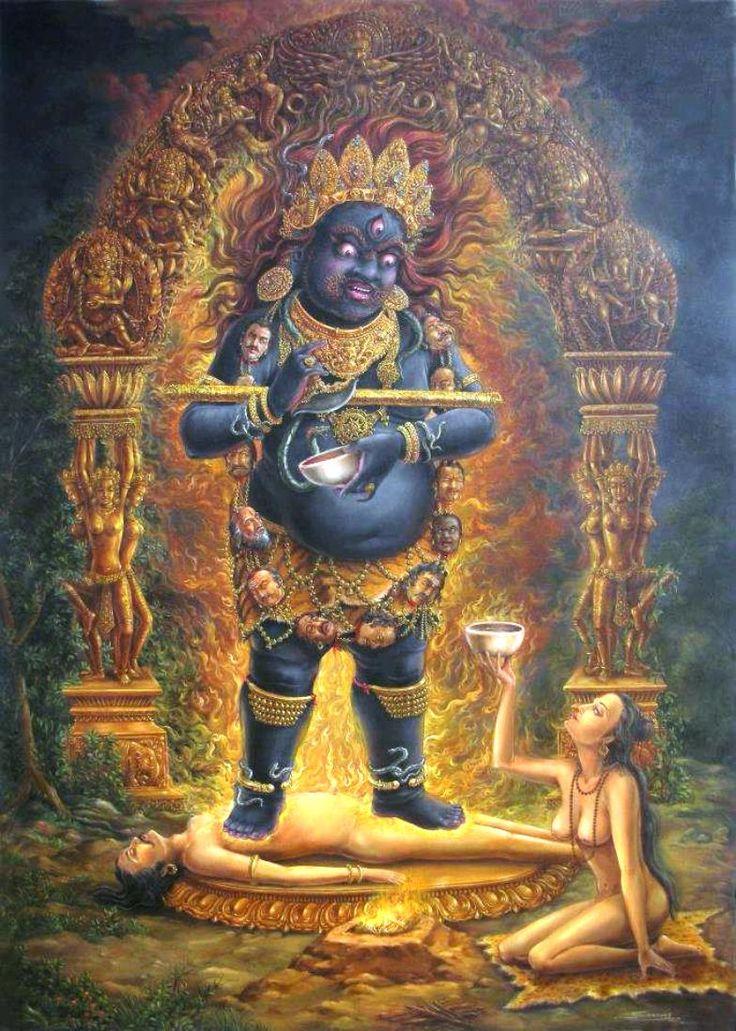 Shiva Bhairava, pintura nepalesa