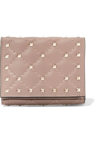 Valentino | Rockstud Spike quilted leather wallet | NET-A-PORTER.COM