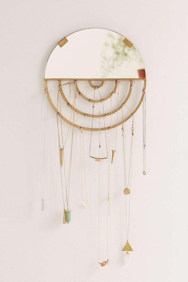 Miroir suspendu avec rangement pour bijoux Aimee