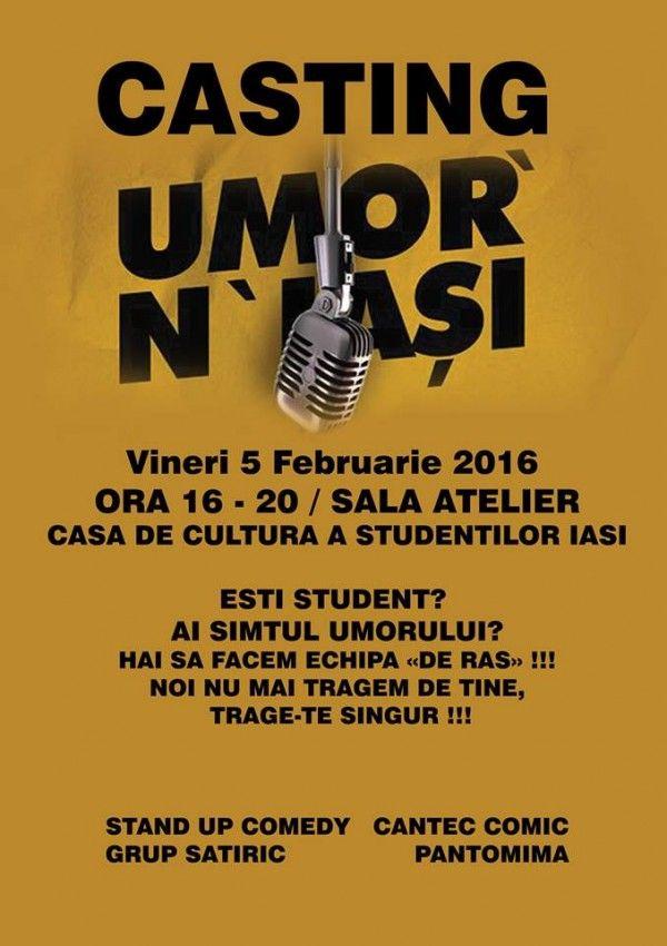 Casting Umor'N'Iasi