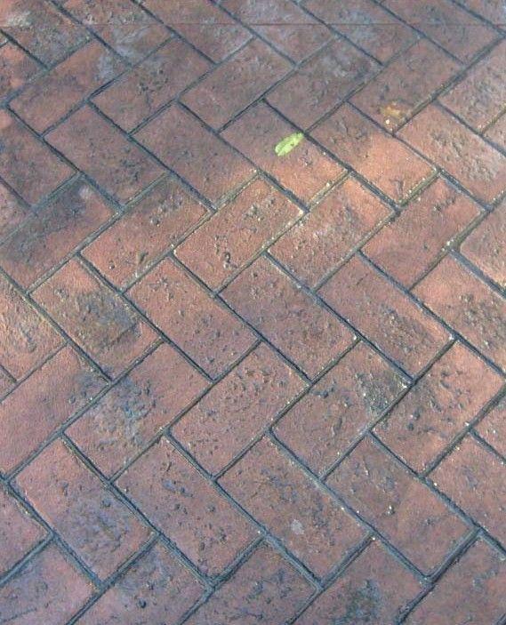 Olde Town Herringbone Concrete Stamp Contractor Source