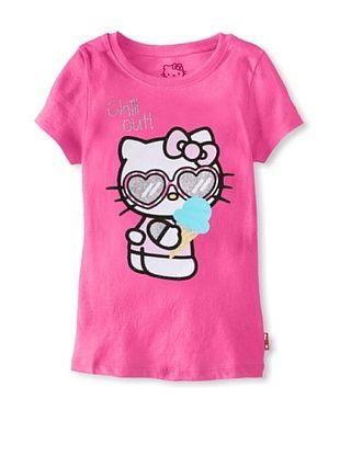 69% OFF Hello Kitty Girl's Graphic Tee (Carmine Rose)
