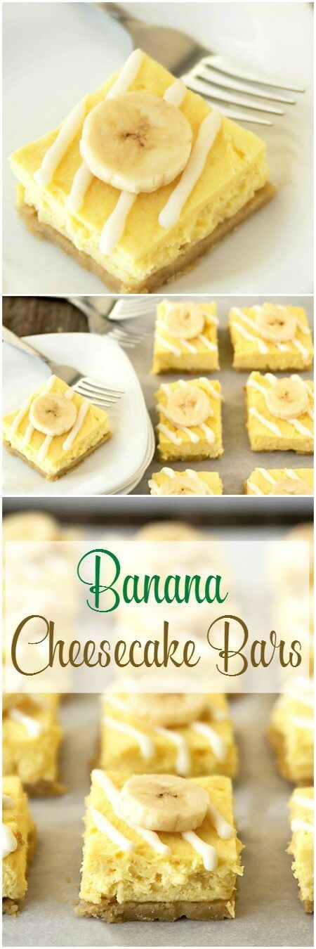 Banana white chocolate cheesecake bars are delicious, and such an easy dessert recipe! This is an ALMOST no-bake dessert recipe (just the crust is baked). The banana blondie crust holds no-bake banana pudding cheesecake filling, with white chocolate drizz
