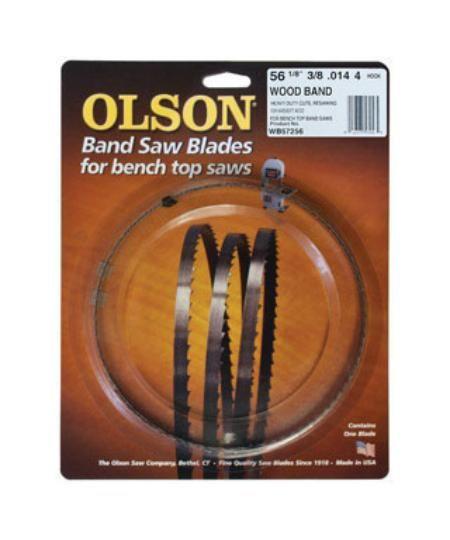 "Olson Saw WB57256 Wood Band Saw Blade, 56-1/8"" x 3/8"""
