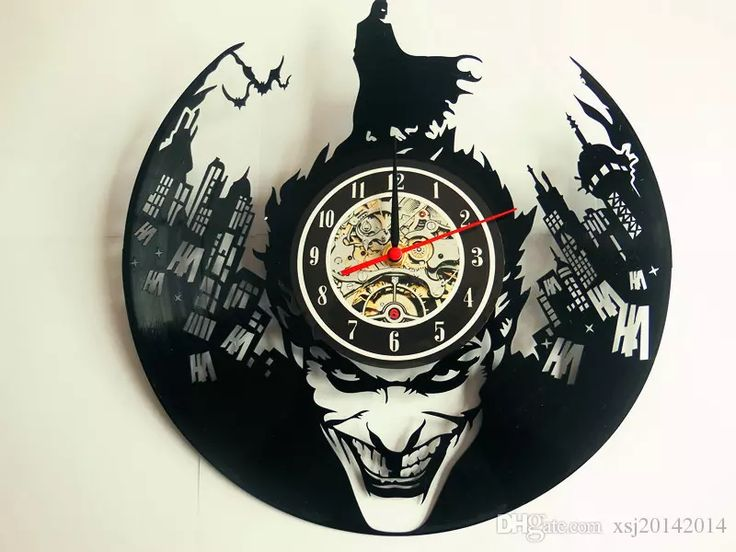 Tick-tock mirror wall clock, various shapes of mirror wall clocks large and mirrored wall clocks large of different styles, all joker batman vinyl record clock, wall clock, vinyl clock, catwoman, home decor 072 can be found in xsj20142014, choose your favorite one!
