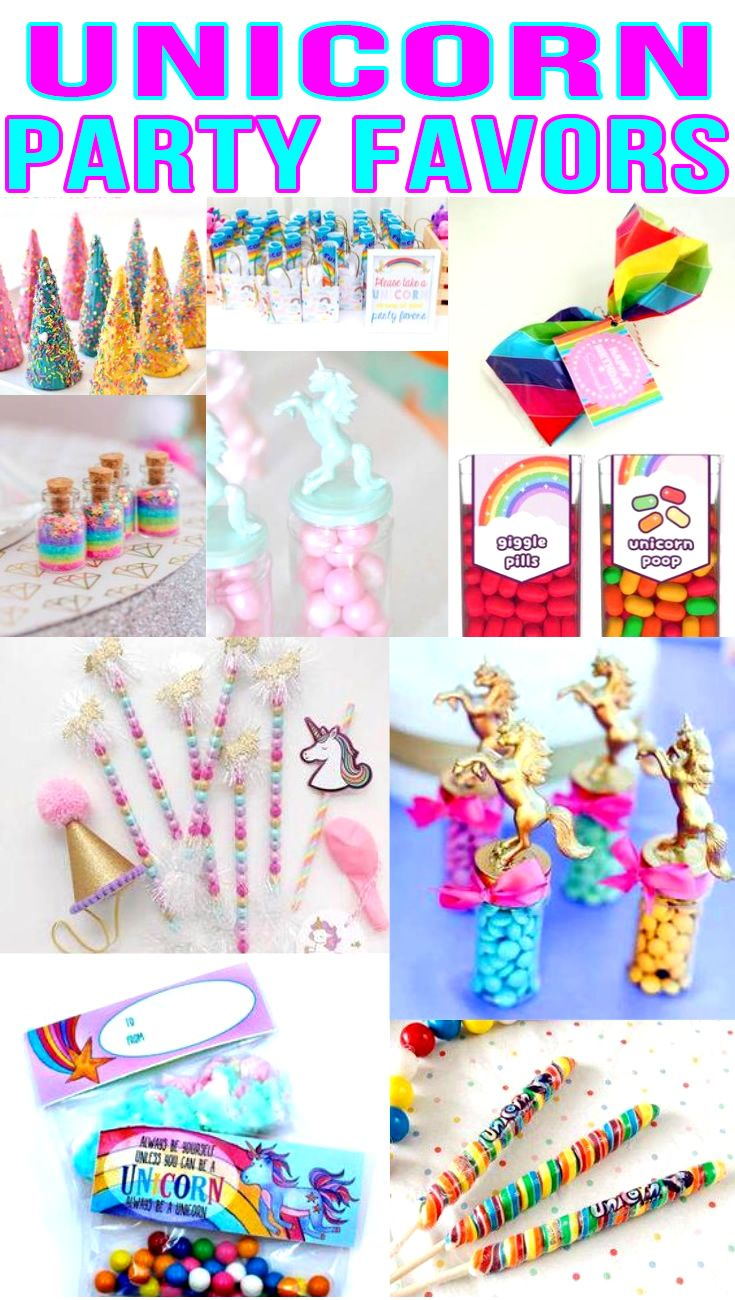 Unicorn Party Favors! Unicorn birthday party bags, goodie bag & more ideas.  Get the best Unicorn birthday party ideas. Best ideas for boys and girls for a bday or classroom party. Candy, gum, toys & more kids and children of all ages will love. DIY or buy some fun Unicorn party favors. Find Unicorn birthday party ideas now!
