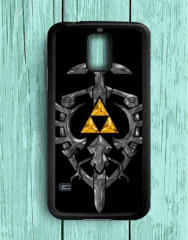 Zelda Black Gold Triforce Samsung Galaxy S5 Case