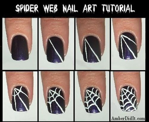 Halloween nails. Seems simple enough - Click image to find more nail art posts