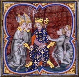 Louis II dit le Bègue (846 - 11/04/879 à Compiègne). Roi des Francs (877-879), fils de Charles II dit le Chauve et Ermentrude d'Orléans. Il demeure un roi sans pouvoir, dominé par la puissance de l'aristocratie.