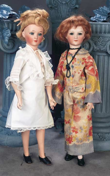 The Great Man's Doll: 457 German Bisque Flapper Lady,1469,by Dressel with Original Body