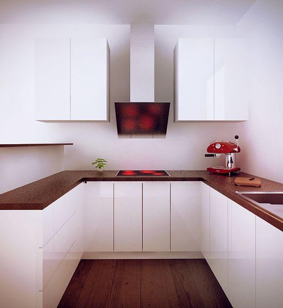 Projekt minimalistycznej białej kuchni - meble na zamówienie MBVision / minimalist white kitchen design