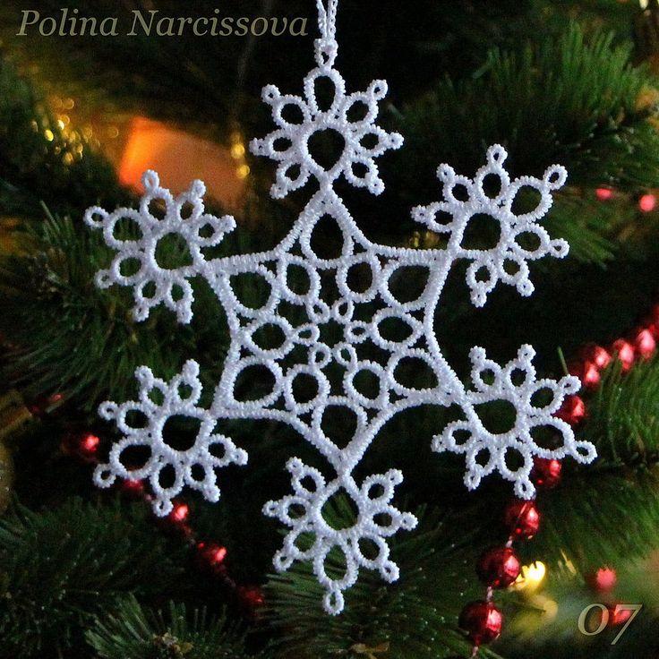 Снежинка, машинная вышивка. Дизайн Polina Narcissova