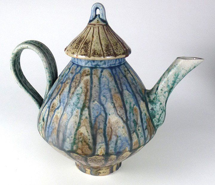 Mark Johnson Stoneware Glazed Teapot and Cover
