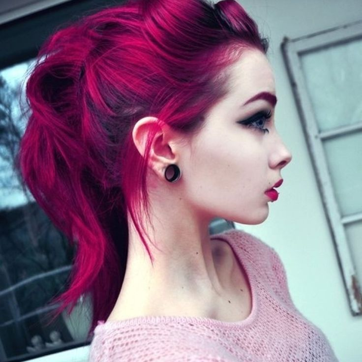 Magenta hair. coloring my hair this color!